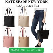 kate spade new york Casual Style Saffiano A4 Plain Totes