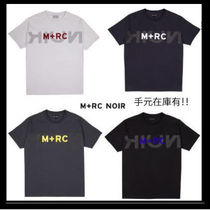 MRC NOIR Crew Neck Street Style Cotton Short Sleeves