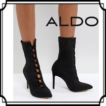 ALDO Lace-up Casual Style Plain Pin Heels Lace-up Boots