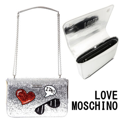 Casual Style Faux Fur 2WAY Chain Shoulder Bags
