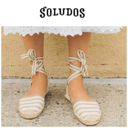 Stripes Platform Round Toe Casual Style