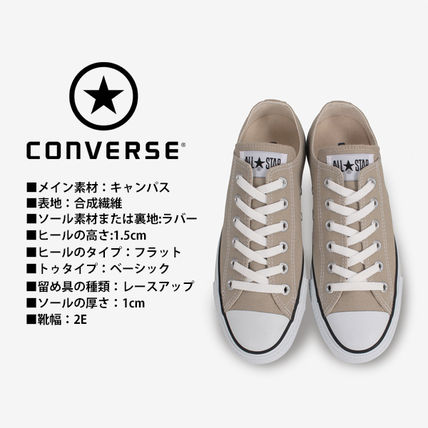 CONVERSE Low-Top Casual Style Unisex Plain Low-Top Sneakers 3