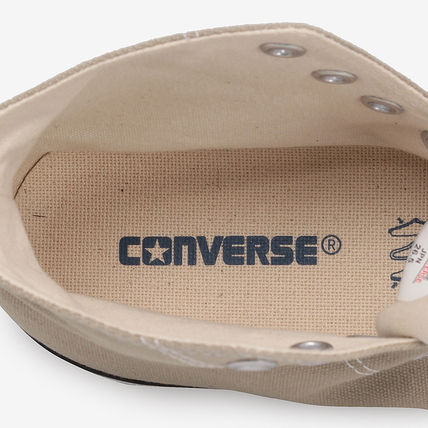 CONVERSE Low-Top Casual Style Unisex Plain Low-Top Sneakers 8