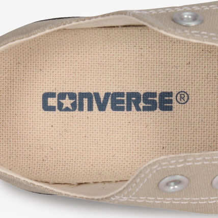 CONVERSE Low-Top Casual Style Unisex Plain Low-Top Sneakers 14