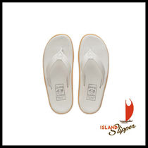 Island Slipper Street Style Plain Leather Sandals