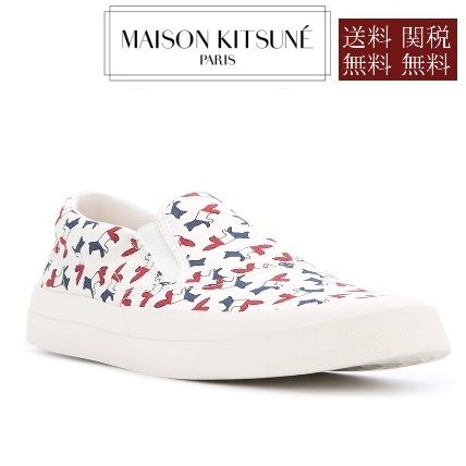 Rubber Sole Casual Style Unisex Street Style Slip-On Shoes
