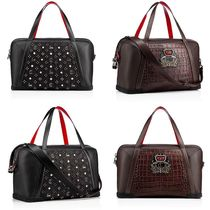 Christian Louboutin Panettone  Blended Fabrics Studded A4 2WAY Plain Other Animal Patterns