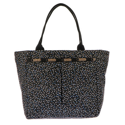 Dots Casual Style Nylon Totes