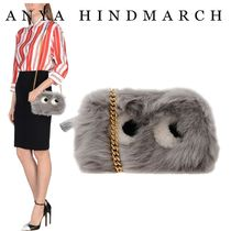 Anya Hindmarch Casual Style Fur Chain Plain Shoulder Bags