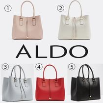 ALDO Faux Fur A4 2WAY Plain Office Style Totes