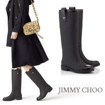 Jimmy Choo Star Round Toe Rubber Sole Casual Style Rain Boots Boots