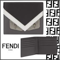 FENDI BAG BUGS Leather Folding Wallets