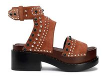 3.1 Phillip Lim Open Toe Platform Casual Style Studded Street Style Leather