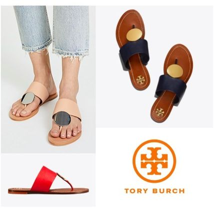 9f08d27864be Tory Burch 2018 SS Open Toe Plain Leather Sandals (46914) by ...