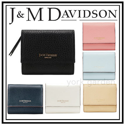 J & M Davidson Folding Wallets Plain Leather Folding Wallets