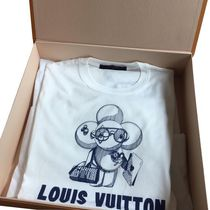 Louis Vuitton Cotton Short Sleeves Luxury T-Shirts