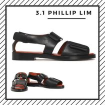 3.1 Phillip Lim Open Toe Casual Style Street Style Plain Leather