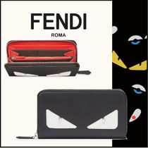FENDI BAG BUGS Calfskin Long Wallets