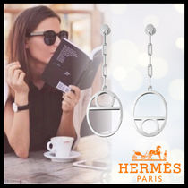 HERMES Chaine dAncre Silver Elegant Style Earrings & Piercings