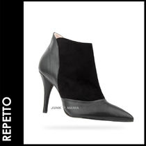 repetto Plain Leather Pin Heels Elegant Style Ankle & Booties Boots