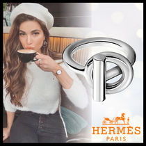HERMES Casual Style Unisex Silver Rings