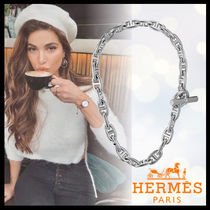 HERMES Chaine dAncre Casual Style Unisex Silver Necklaces & Pendants