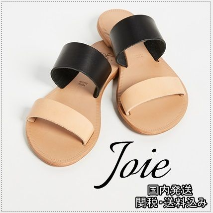 Casual Style Plain Leather Sandals