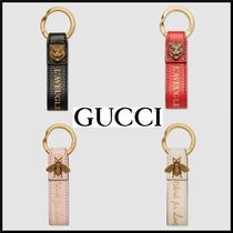 GUCCI Unisex Other Animal Patterns Leather Keychains & Bag Charms