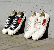 COMME des GARCONS Heart Unisex Street Style Low-Top Sneakers