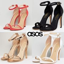 ASOS Open Toe Suede Pin Heels Office Style Heeled Sandals