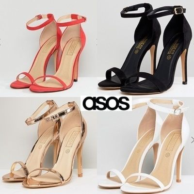 0ff2a72cc0c ... ASOS Heeled Open Toe Suede Pin Heels Office Style Heeled Sandals ...