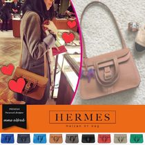 HERMES 3WAY Plain Leather Elegant Style Shoulder Bags