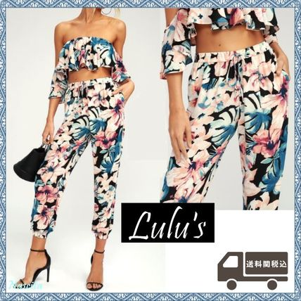 Tropical Patterns Casual Style Sarouel Pants