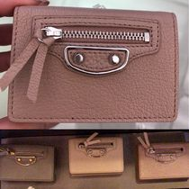 BALENCIAGA CITY Tassel Studded Plain Folding Wallets
