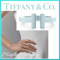 Tiffany & Co Tiffany T Costume Jewelry Silver Elegant Style Rings