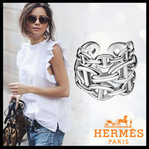 HERMES Chaine dAncre Casual Style Unisex Silver Rings