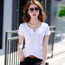 Casual Style Plain Cotton Medium Short Sleeves