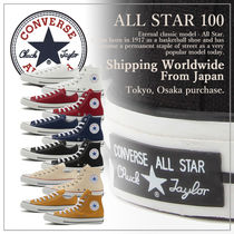 CONVERSE Casual Style Unisex Plain Low-Top Sneakers