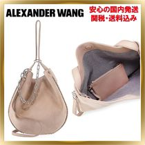 Alexander Wang Unisex Suede 2WAY Chain Plain Elegant Style Handbags