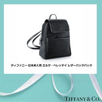 Tiffany & Co Heart Casual Style Plain Leather Backpacks