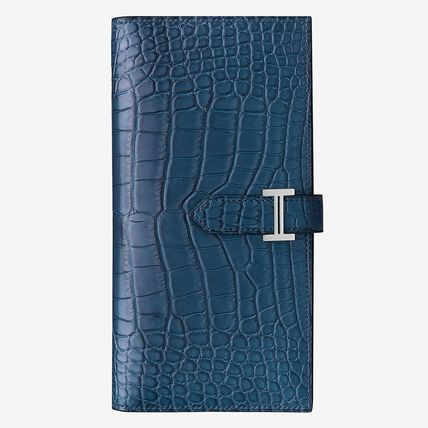 HERMES Long Wallets Blended Fabrics Other Animal Patterns Long Wallets 2