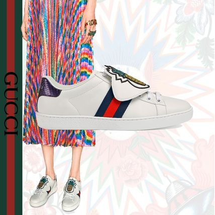 2c901bb3f6f GUCCI Ace 2018 SS Rubber Sole Leather Low-Top Sneakers by GattoM - BUYMA