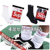 Supreme Unisex Street Style Collaboration Undershirts & Socks