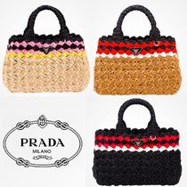 PRADA Casual Style 2WAY Straw Bags