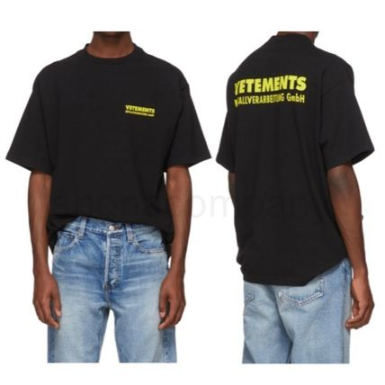 VETEMENTS More T-Shirts Unisex Street Style Cotton Short Sleeves T-Shirts