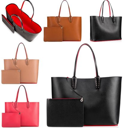 b6fb15db28e Christian Louboutin 2018-19AW Bag in Bag A4 Plain Leather Office Style  Totes (1175113CM53, 1175113C371, 11751133006, 1185011P195)