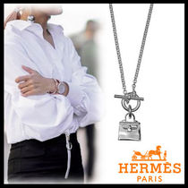 HERMES Kelly Unisex Silver Elegant Style Necklaces & Pendants
