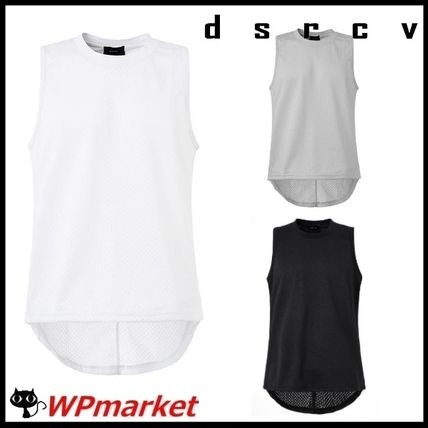 Pullovers Street Style Plain Cotton Vests & Gillets