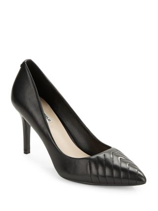 Plain Leather Pin Heels Office Style