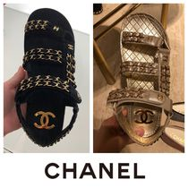 ccbef2ccb006 CHANEL Casual Style Plain Leather Sport Sandals Flat Sandals